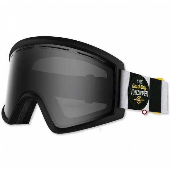 MASQUE VONZIPPER CLEAVER BLACK SATIN 2 ECRANS S1/S4