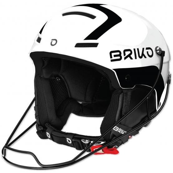 CASQUE BRIKO SLALOM SHINY WHITE BLACK
